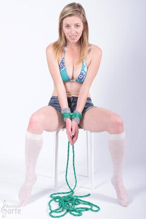 Girl next door beauty gets to be tied up - XXX Dessert - Picture 5