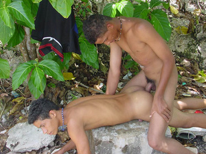 Two horny latino twinks with equally large creamscicles enjoy sucking each other's cocks and fuck each other's corn holes - XXXonXXX - Pic 13