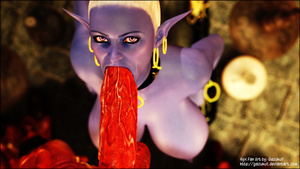Red 3D devil fucking fairy's face eagerl - XXX Dessert - Picture 5