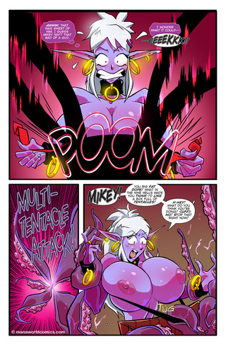 big-titted purple fairy captured