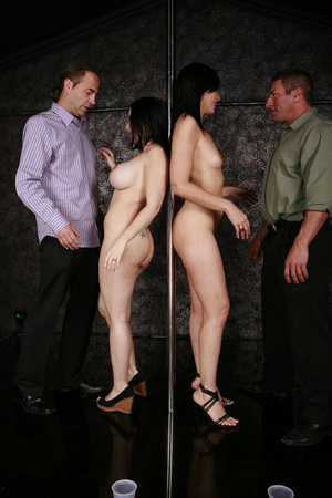 Horny busty swinger wives enjoying a dic - XXX Dessert - Picture 5