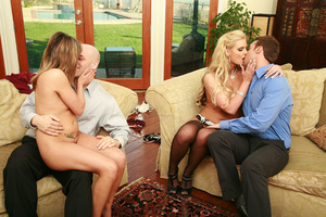 Two hot swinger wives get into lesbian a - XXX Dessert - Picture 5