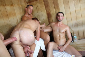 Four guys having fun on the bath house a - XXX Dessert - Picture 15