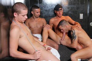 Multiple gay butt fucking and hard cock  - Picture 2