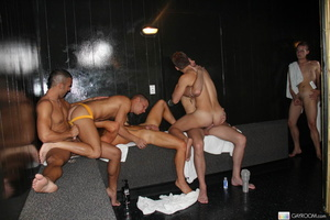 Multiple gay butt fucking and hard cock  - Picture 6