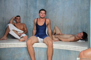 Five naughty horny and wet guys in hot c - XXX Dessert - Picture 1