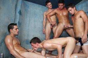 Five naughty horny and wet guys in hot c - XXX Dessert - Picture 13