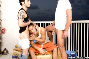 Private gay party for three with hot dic - XXX Dessert - Picture 7