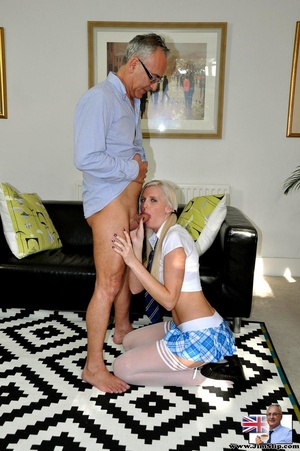 Young slender blonde sucks thick dick be - XXX Dessert - Picture 8