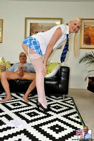 Young slender blonde sucks thick dick be - XXX Dessert - Picture 13