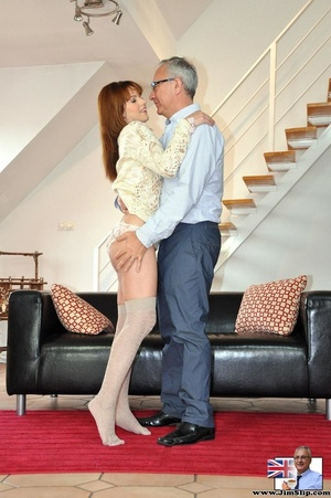 Hot sexual action as horny red hair knee - XXX Dessert - Picture 1