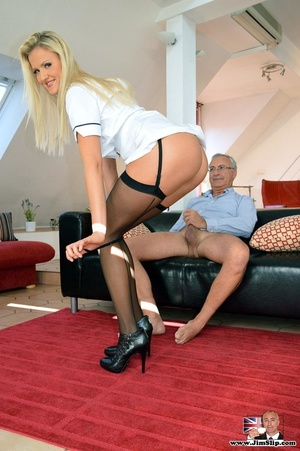 Hot cute smiling blonde loves it when he - XXX Dessert - Picture 1