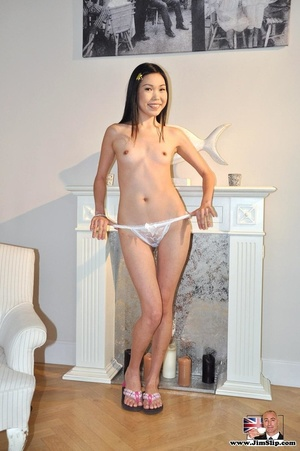 Cute young Asian goes nude to take cock  - XXX Dessert - Picture 9