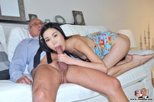 Cute naughty Asian gives Jim a swell tim - XXX Dessert - Picture 5
