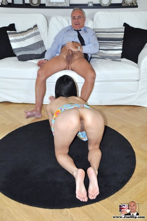Cute naughty Asian gives Jim a swell tim - XXX Dessert - Picture 13