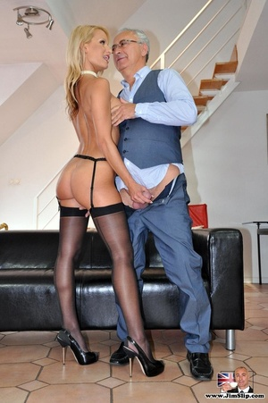 Cock loving blonde give Jim's hard cock  - XXX Dessert - Picture 1