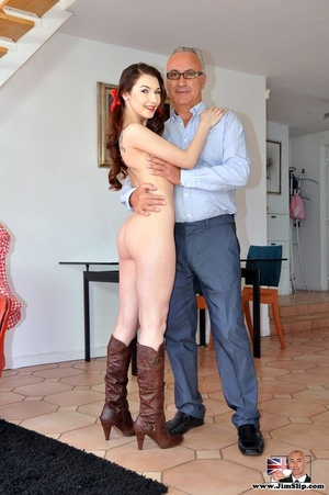 Sexy babe in pony tails go nude to show  - XXX Dessert - Picture 11