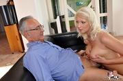 seductive nude blonde sucks