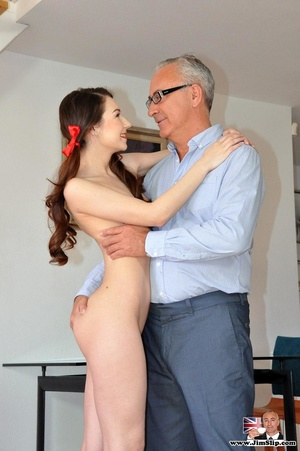 Young cute babe strips off to ride Jim's - XXX Dessert - Picture 5