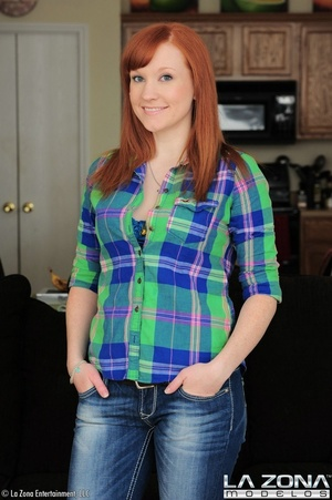 Sexy red hair model promises a good time - XXX Dessert - Picture 1