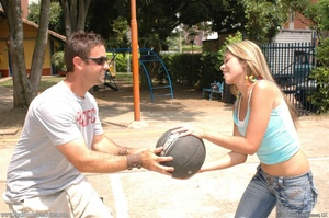 Cute basketball loving chick drops ball  - XXX Dessert - Picture 4