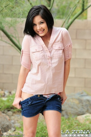 Smiling babe with black hair and creamy  - XXX Dessert - Picture 6