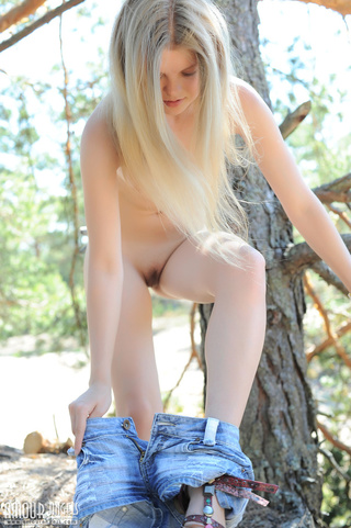 long-haired teen blonde jeans
