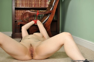 Busty brunette beauty ball gagged, tied and spread eagled on the floor ready for some hardcore action - XXXonXXX - Pic 11