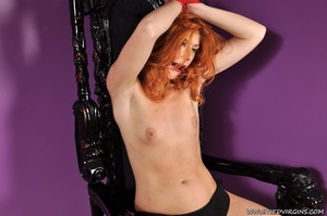 Bound and gagged red haired cutie looks so hot and sexy as she squirms against her binds on athrone - XXXonXXX - Pic 6