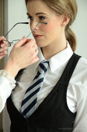 Concerned blonde headmistress makes geek - XXX Dessert - Picture 11
