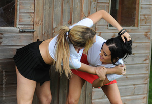 Two rowdy sluts engage themselves in a v - XXX Dessert - Picture 3