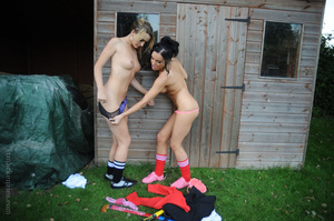Two rowdy sluts engage themselves in a v - XXX Dessert - Picture 13