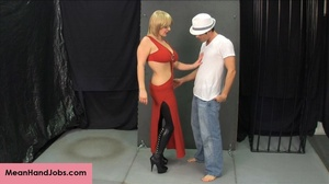 Lovely blonde bitch gives a hunky guy a  - XXX Dessert - Picture 1