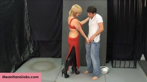 Lovely blonde bitch gives a hunky guy a  - XXX Dessert - Picture 2