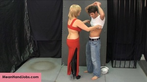 Lovely blonde bitch gives a hunky guy a  - XXX Dessert - Picture 3