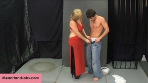 Lovely blonde bitch gives a hunky guy a  - XXX Dessert - Picture 4