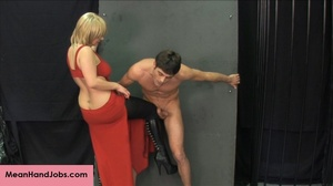 Lovely blonde bitch gives a hunky guy a  - XXX Dessert - Picture 15