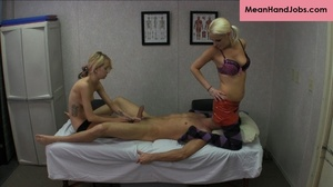 Two blonde bitches gives a hunky guy a m - XXX Dessert - Picture 8