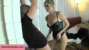 A mean blonde bitch ties up a guy then t - XXX Dessert - Picture 13