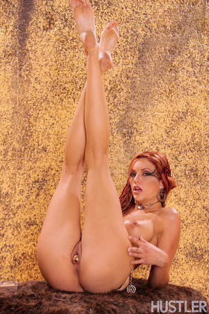 Beautiful red haired savage babe spread  - XXX Dessert - Picture 6