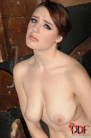 bound nude brunette can't
