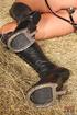 lovely brunette wearing horse