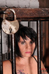 short haired brunette slave
