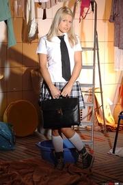 naughty school girl pisses
