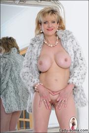 fashionable blonde bitch wearing