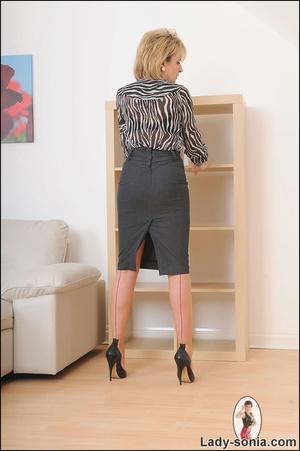 Lovely slutty lady boss reveals her horn - XXX Dessert - Picture 2