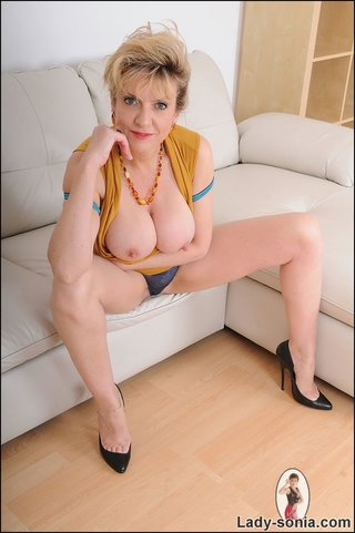 slutty blonde milf loves