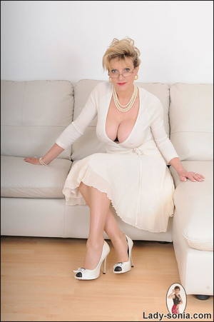 Looking virginal in white, beautiful MIL - XXX Dessert - Picture 1