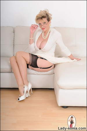 Looking virginal in white, beautiful MIL - XXX Dessert - Picture 2