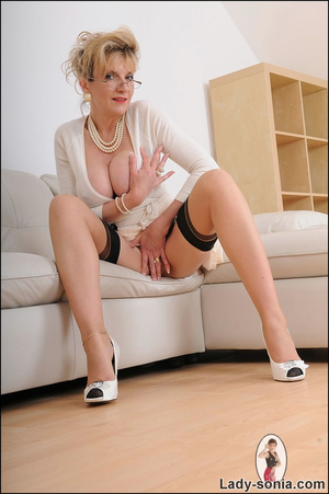 Looking virginal in white, beautiful MIL - XXX Dessert - Picture 4